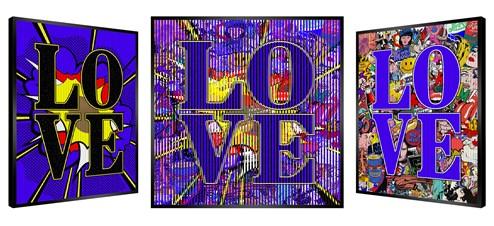 Love In Blue by Patrick Rubinstein - Kinetic Original on Board